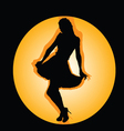 girl in the hole black silhouette vector image vector image