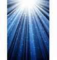 glittering rays in the dark vector image vector image