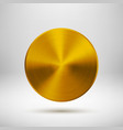Gold Gold Abstract Circle Button Template vector image vector image