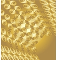 Golden background with ovals vector image