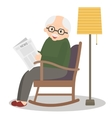 Grandfather sitting in rocking chair vector image