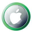 green and blue apple system icon on white vector image vector image