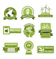 icons for earth day and save planet nature vector image vector image