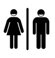 male and female toilet vector image vector image
