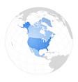 map north america vector image