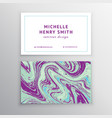 marbling business card vector image vector image