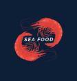 modern conceptual logo sea food vector image