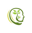 nature head science logo vector image vector image