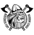 norse warrior berserker viking head shield and vector image vector image