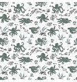 Octopus seamless pattern vector image vector image