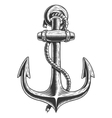 Old vintage anchor vector image