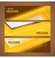 orange headers vector image vector image