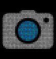 photo camera halftone icon vector image vector image