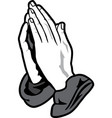praying hands icon graphic vector image