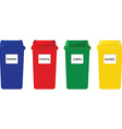 Recycle bins vector image vector image