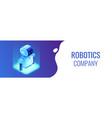 robotics technology isometric 3d banner header vector image vector image