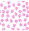 sakura pattern on white background vector image vector image