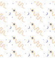seamless pattern with magic snake on white vector image