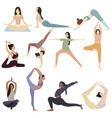 set exercises for body collection vector image vector image