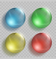 set of glass multicolored balls vector image