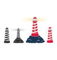 set vintage icons a lighthouse vector image