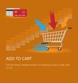 shopping cart icon with an inscription vector image vector image