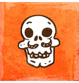 Skull Cartoon Background vector image
