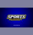 sports league wordmark text creative logo design vector image