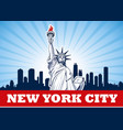 statue liberty nyc usa vector image