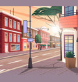 street town cartoon the vector image vector image