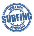 surfing grunge rubber stamp vector image vector image