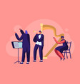 symphony orchestra playing classical music concert vector image