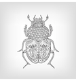the scarab beetle on a light background vector image