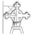 tomb cross vintage vector image vector image