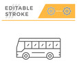 tourist bus line icon vector image vector image