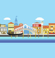 venice cityscape in simple style style vector image vector image