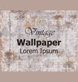 vintage wallpaper royal ornament elegant vector image
