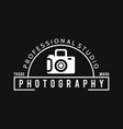 white icons for photographer on black background vector image vector image