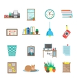 Workplace Icons Set vector image