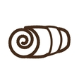 rolled towel icon image vector image