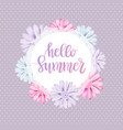 romantic vintage floral card vector image