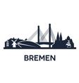 Bremen City Skyline vector image