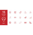 15 diet icons vector image vector image