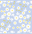 abstract simple white flowers seamless pattern vector image vector image