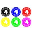 antarctica rubber stamp vector image vector image