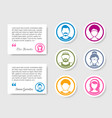 avatar people icons for feedback and ratings vector image vector image