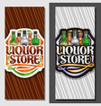 banners for liquor store vector image vector image
