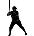 baseball player silhouette vector image vector image