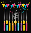 Birthday candles with garlands hanging