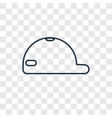 cap concept linear icon isolated on transparent vector image